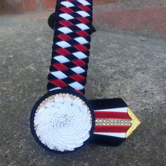 Double diamond style browbands